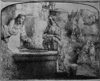 Rembrandt; Cristo e la Samaritana - 350