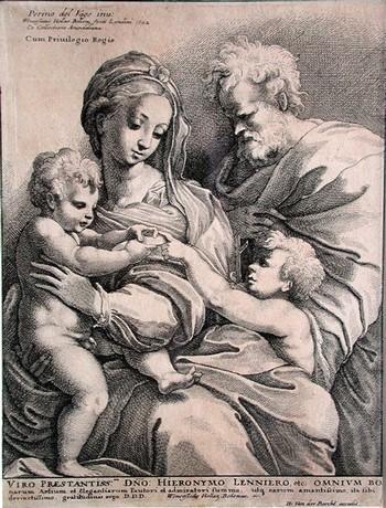 Hollar W; Sacra Famiglia con S. Giovannino - 350