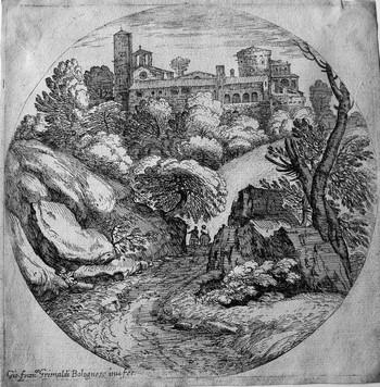 Grimaldi Paesaggio con un Castello - Copia - 350