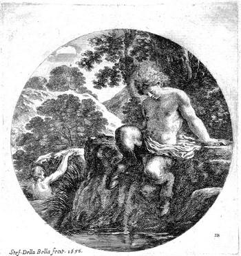 Della Bella S; Il giovane satiro che entra nell'acqua - 350