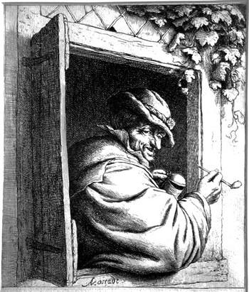 Van Ostade A; Il fumatore alla finestra - 350