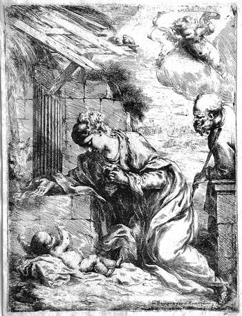 Biscaino B; La Vergine adora il bambino Gesù - 350
