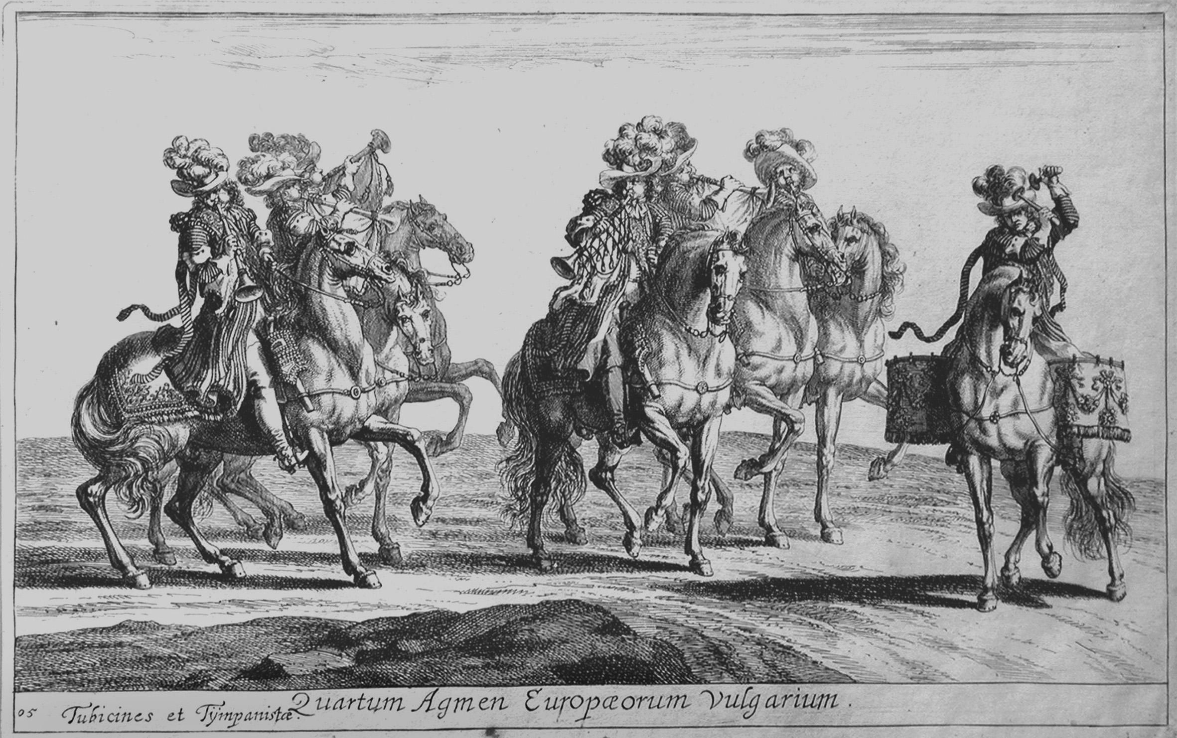 Eimmart GC; Cavalieri con trombe e timpani