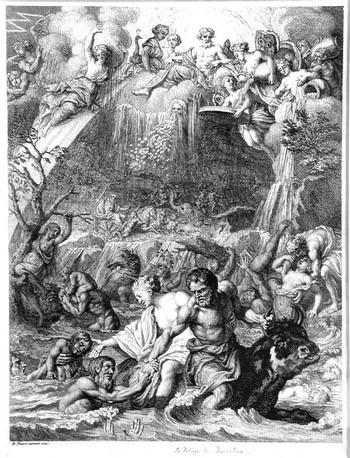 Picart B; Il diluvio di Deucalione - 350