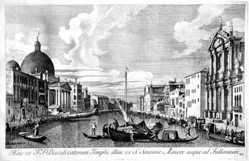 Visentini A; Veduta della Chiesa degli Scalzi - 350