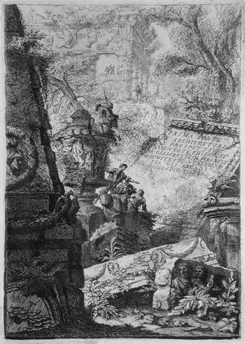 Piranesi GB; Prima parte arch...., secondo frontespizio - 350