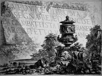 Piranesi GB; Vedute di Roma, Primo frontespizio - 350