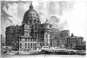 Piranesi GB; Veduta di San Pietro dalla p.zza della sagrestia - 350