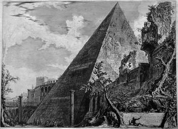 Piranesi GB; Piramide di Caio Cestio - 350