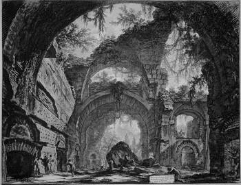 Piranesi GB; rovine galleria di statue a Villa Adriana a Tivoli - 350