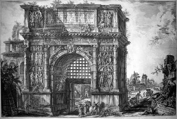 Piranesi GB; Veduta dell' Arco di Benevento - 350