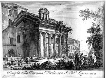 Piranesi GB; il tempio della Fortuna Virile - 350