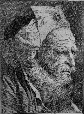 Tiepolo GD; Vecchio barbuto di tre quarti - 350