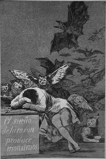 Goya F; El sueno de la razon produce monstruos - 350
