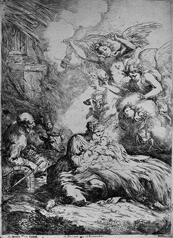 BISCAINO Bartolomeo; Natività con angeli - 350