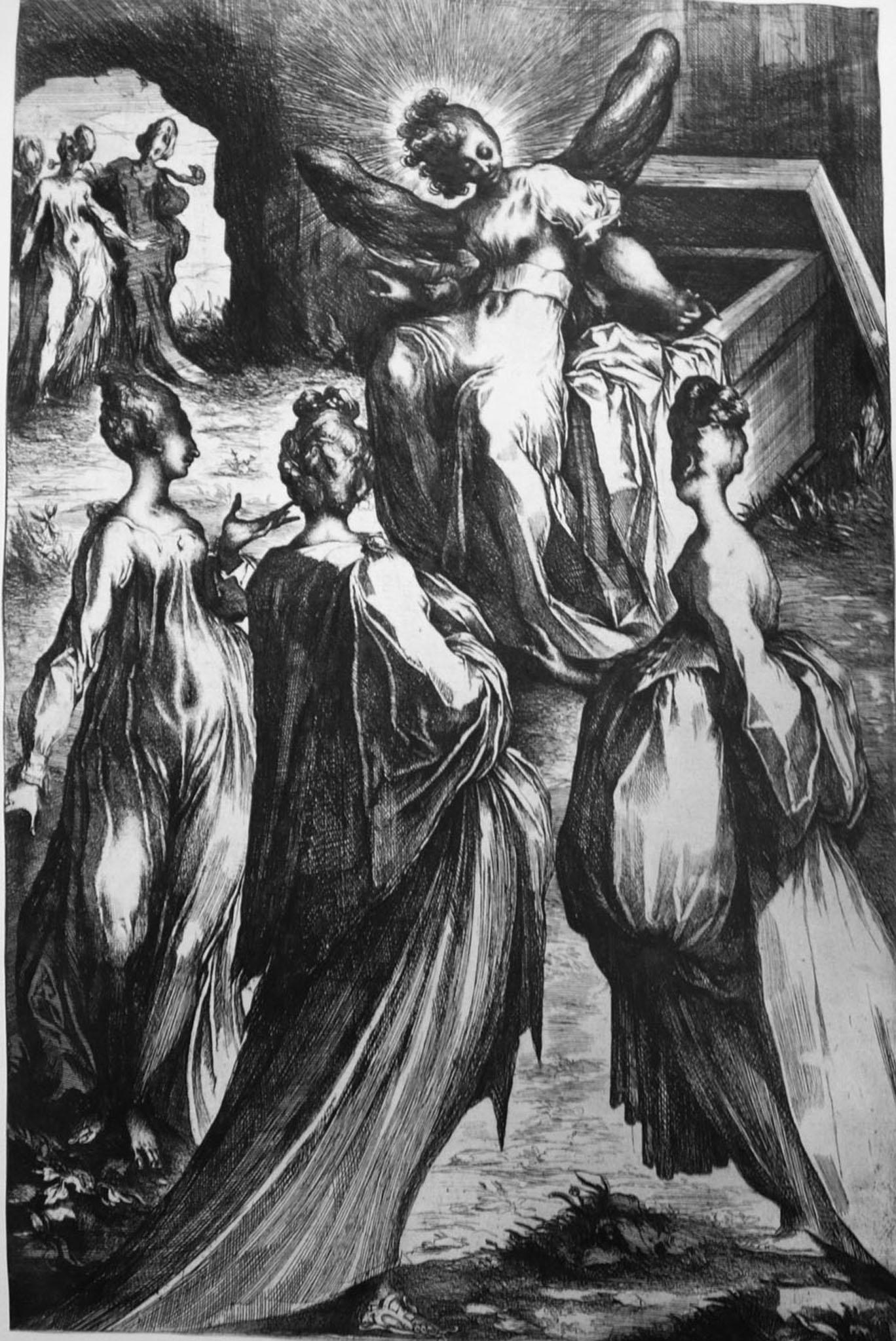 Bellange J; Le tre Marie al sepolcro