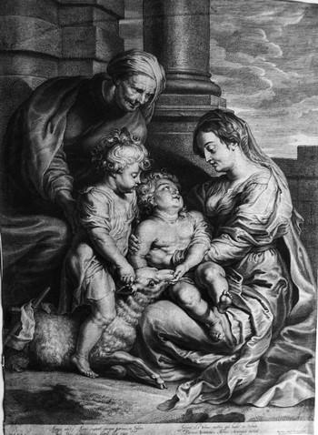 BOLSWERT Schelte Adams; Sacra Famiglia con S.ta Elisabetta e S. Giovannino - 350