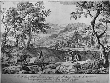 M.Ricci; Paesaggio con asino sul ponte - 350