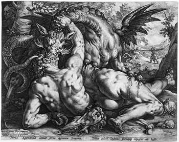 Goltzius H; Il drago e i compagni di Cadmio - 350