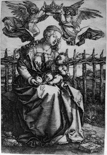 Durer A; Madonna col Bambino e angeli-350