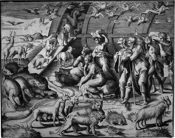 Bonasone G; Noè esce dall'arca con gli animali-350