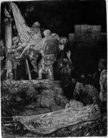 Rembrandt; Deposizione al lume delle torce-350