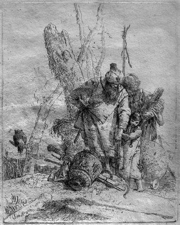 Tiepolo GB; due maghi e un bambino-350