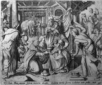 Sadeler Jan; Adorazione dei magi-350